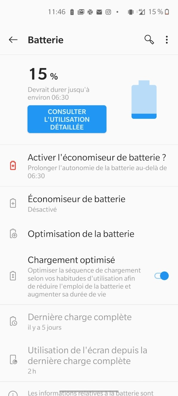 Test Phototrend OnePlus Nord Captures Batterie 2