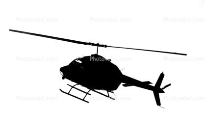 N58140, Bell 206B JetRanger II silhouette, shape, logo