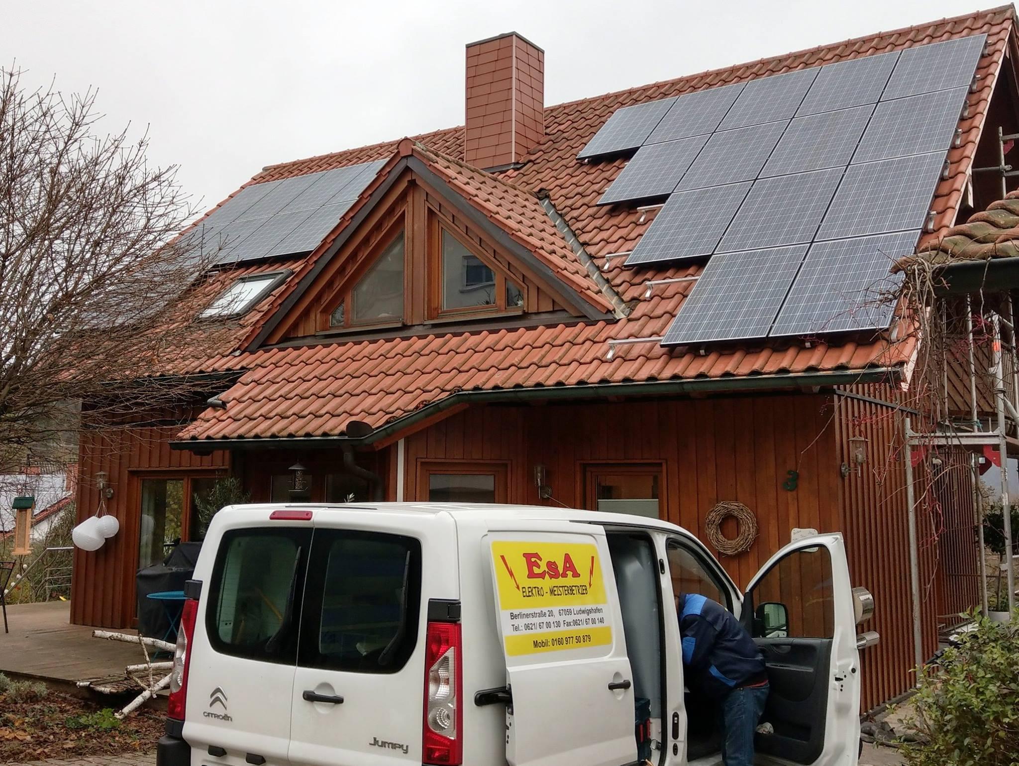 Heiligkreuzsteinach, PV - Anlage (6,48 kWp) mit Speichersystem E3/DC S10 Hauskraftwerk E12 AI Nutzbarer Speicherkapazität 9,2 kWh
