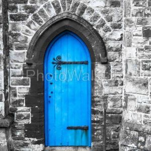 Blue Church Door Penzance Cornwall - Photo Walk UK