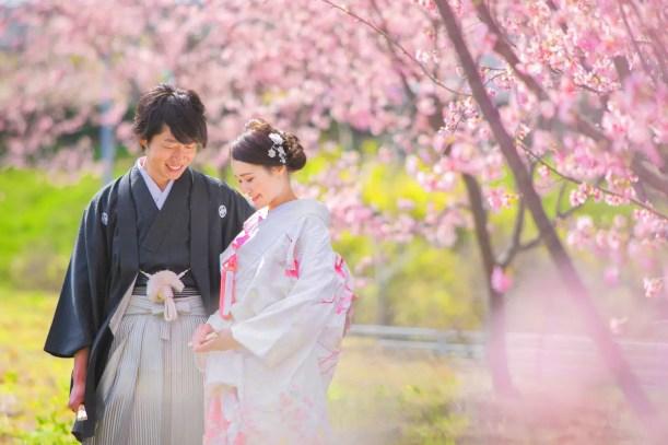 フォトウェディング 群馬県 桜