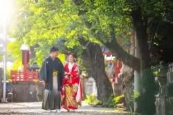 フォトウェディング 群馬 神社 散歩