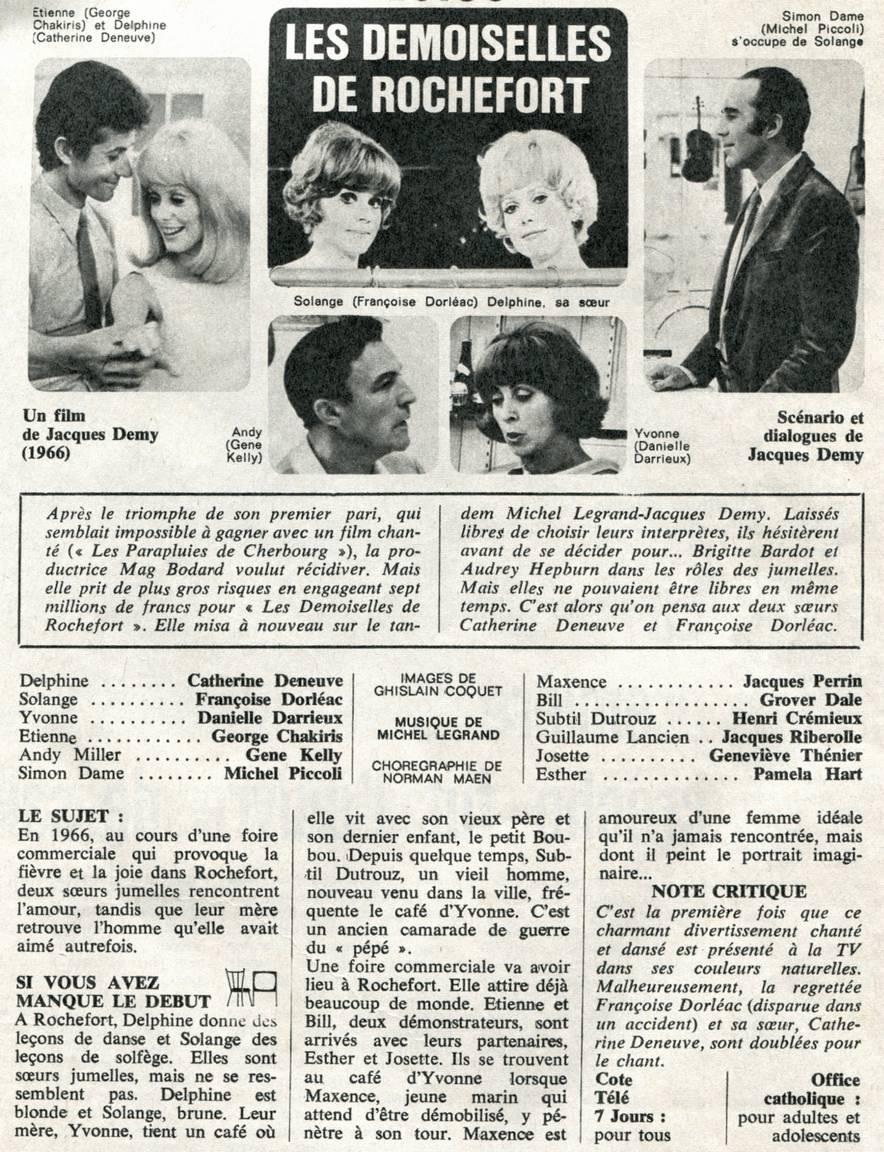 Les Demoiselles De Rochefort Titres : demoiselles, rochefort, titres, Données, Films, Français, Images
