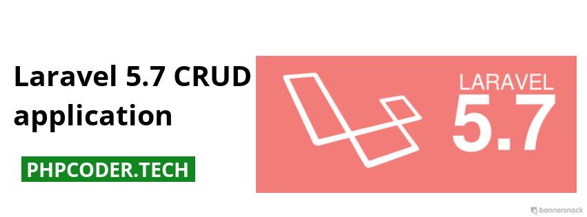 Laravel 5.7 CRUD application