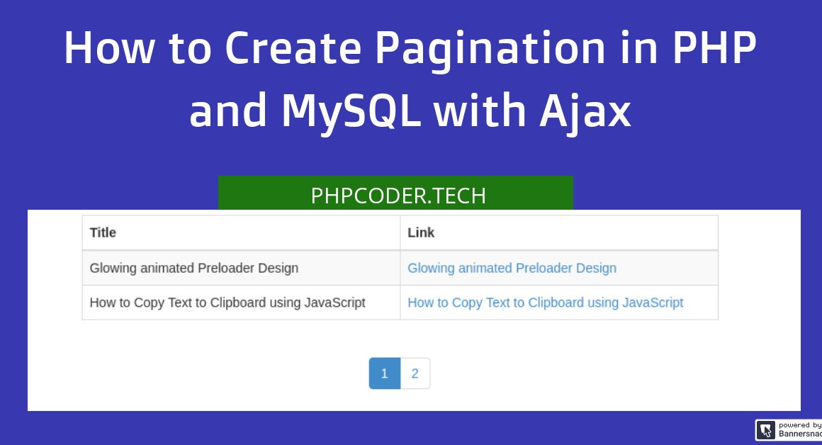 How to Create Pagination in PHP with Ajax