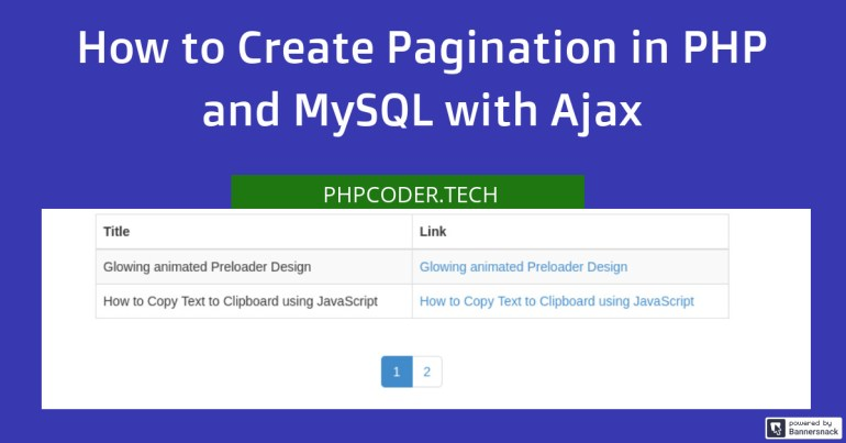Create Pagination in PHP with Ajax