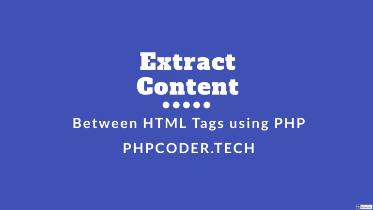 Extract Content From HTML Tags