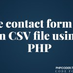 Save contact form data in CSV file using PHP