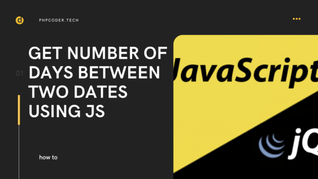 Get Number of Days between Two Dates Using JS