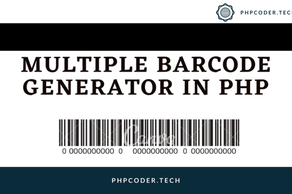 Multiple Barcode Generator in PHP