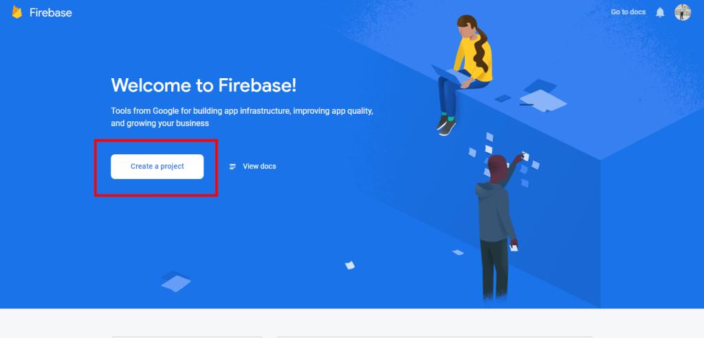 Firebase Create a project