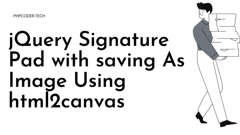 jQuery Signature Pad with saving As Image Using html2canvas