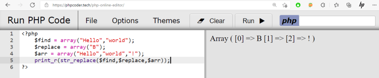 PHP str_replace Function With an Arrays