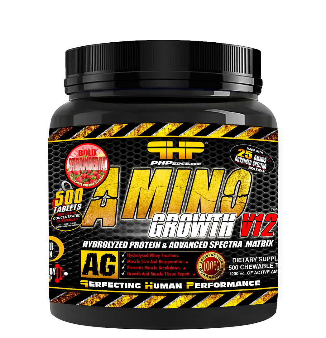 AMINO GROWTH V12 BOLD STRAWBERRY