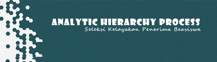 Aplikasi AHP (Analitic Hierarchy Process) Dengan PHP dan MySQL
