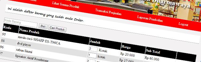 Aplikasi untuk Mini Market dengan PHP dan MySQL
