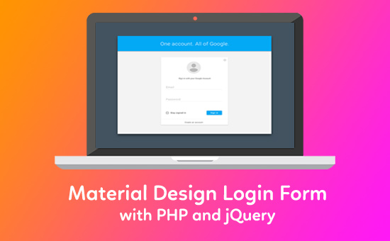 Material-Design-Login-Form-with-PHP-and-jQuery