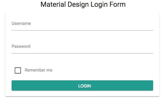 material-design-login-form-output