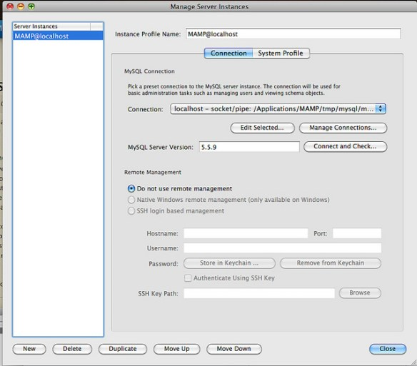 Using MySQL Workbench with MAMP | Internet Strategy Guide