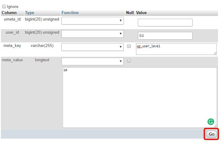 wp_usermeta information