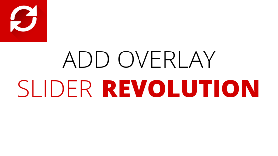 Add Overlay on Slider Revolution