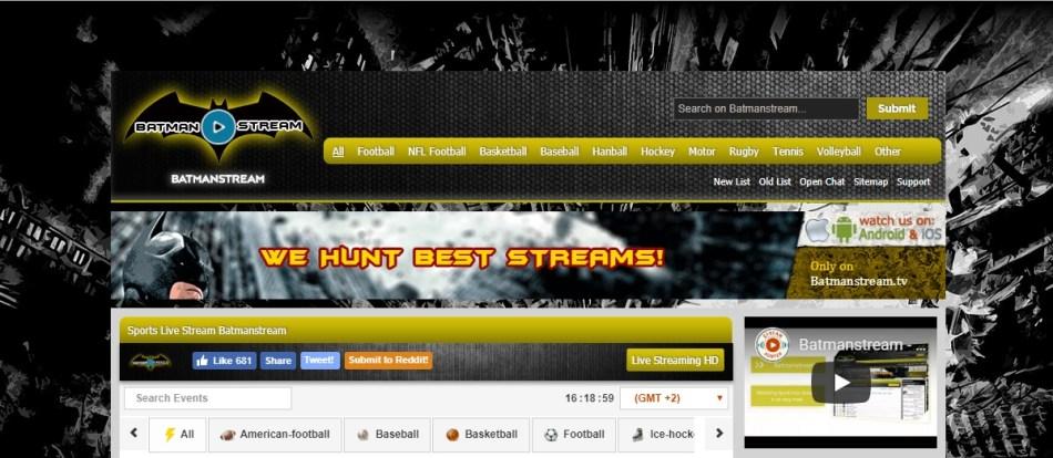 Batmanstream Free Sports Streaming Sites