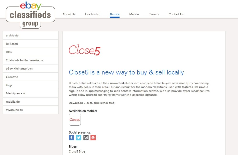 Close5 Marketplace to Sell Items