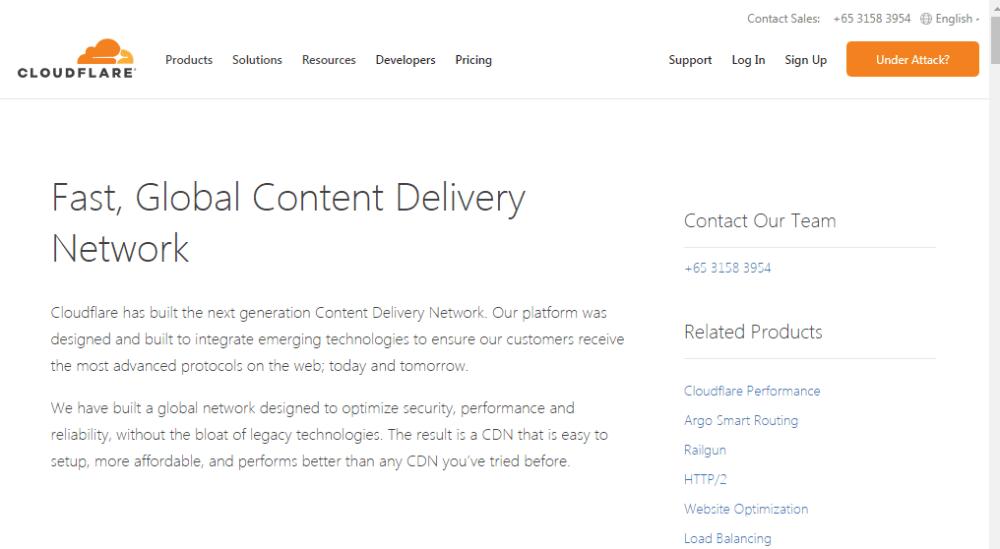 Cloudflare Free WordPress CDN Service