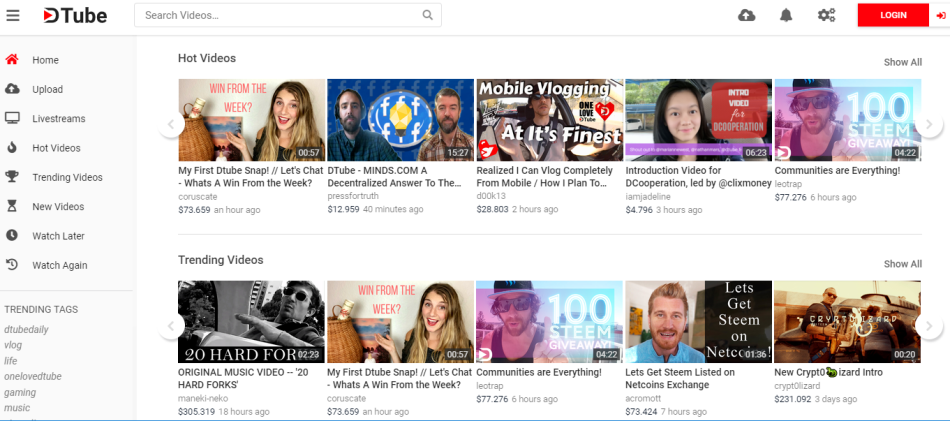 DTube with no Restrictions