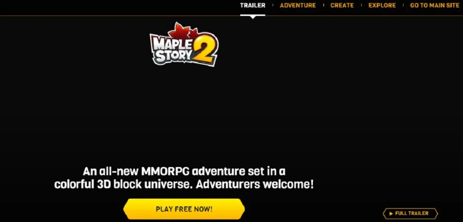 The MapleStory2 with avatars without download