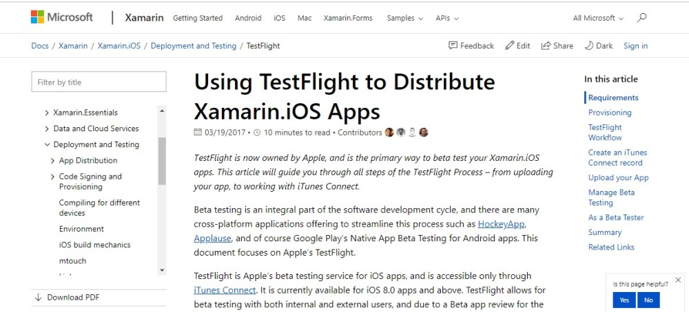 Xamarin TestFlight iPhone emulators