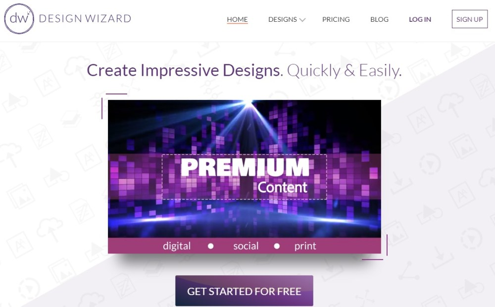 designwizard online photo editors