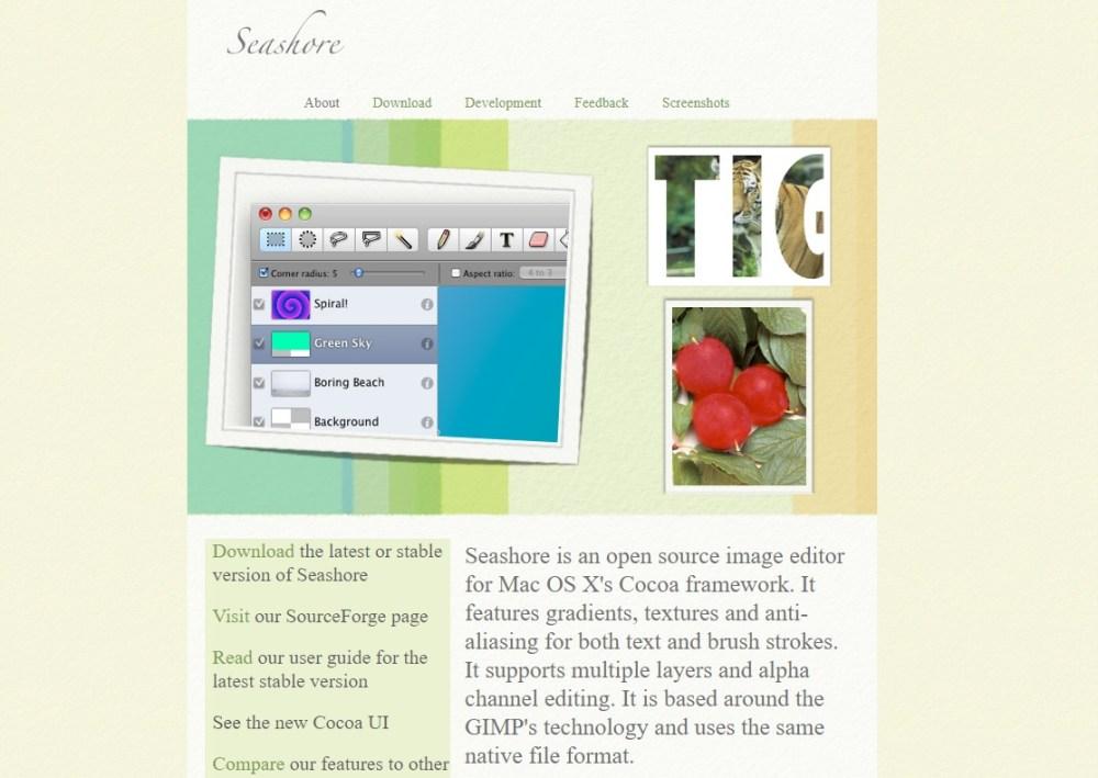 seashore free online photo editors