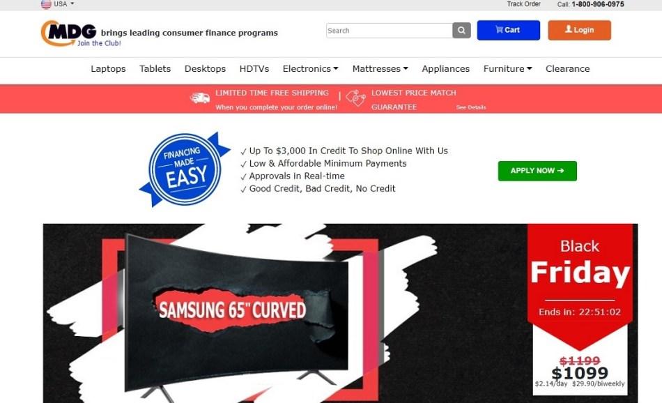 MDG Sites to Fingerhut