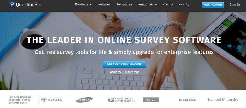 QuestionPro for Survey management & Data analysis