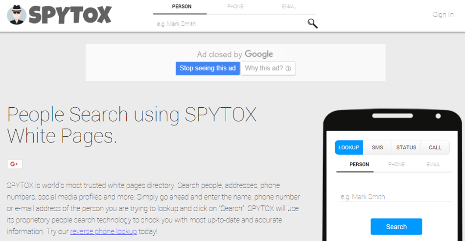 Spytox for free online call