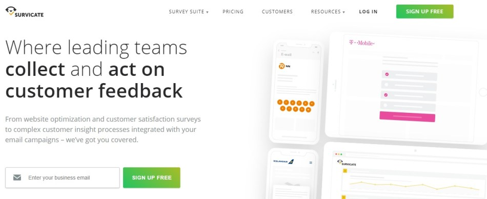 Survicate for Survey management & Data analysis