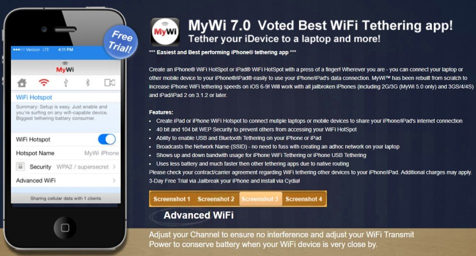 MyWi iPhone only