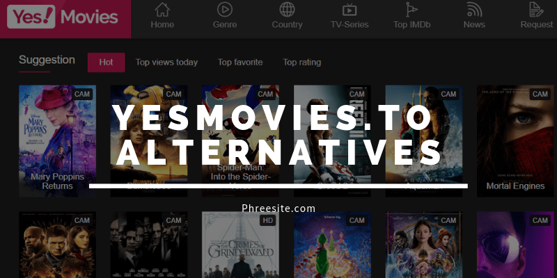 Yesmovies.to Alternatives