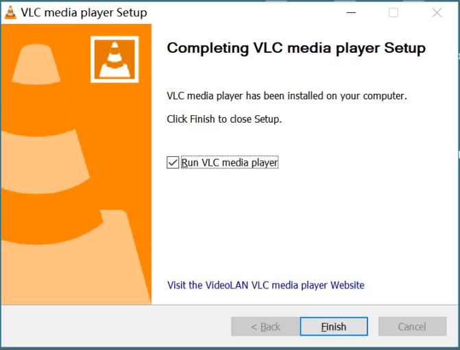 run VLC on window