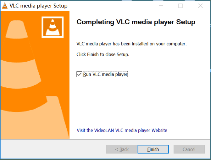 run VLC on window