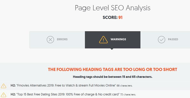 Page Level SEO Analysis
