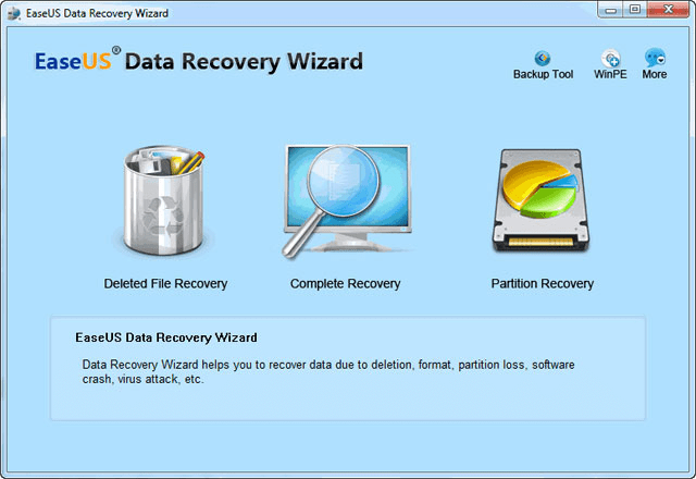 EaseUs Data Recovery for window