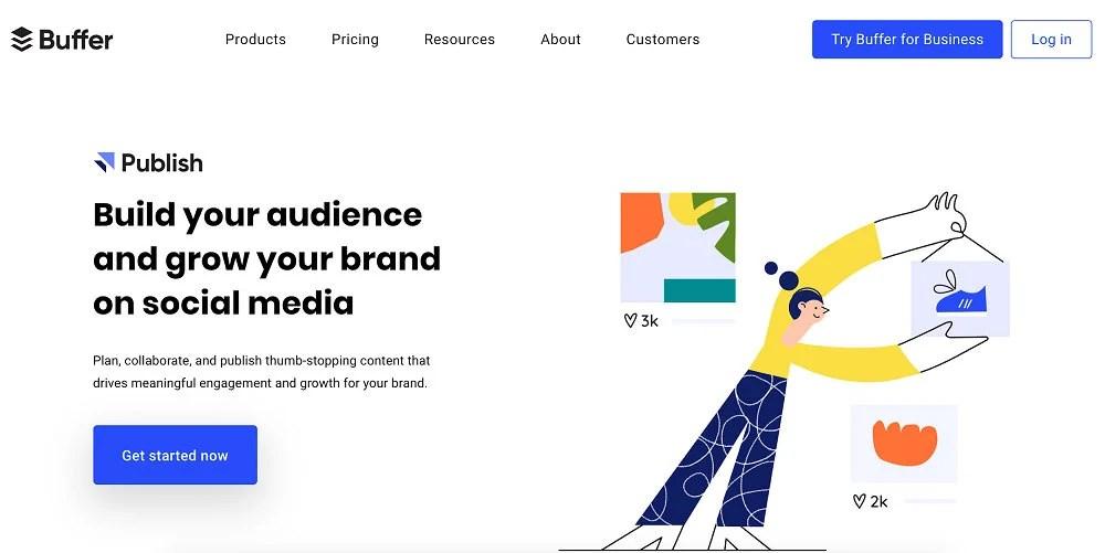 Buffer for social media marketing