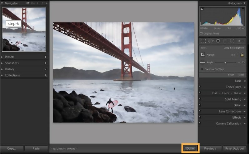 Exporting cropped images in Lightroom CC