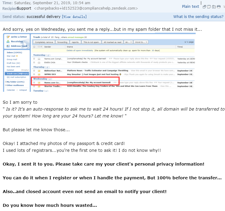 A missed email