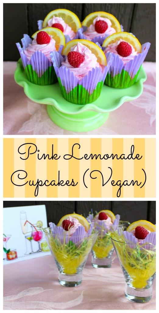 Pink Lemonade Cupcakes (Vegan)