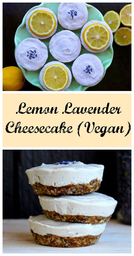 Lemon Lavender Cheesecake (raw, vegan)