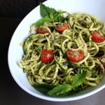 Zucchini Noodles with Mint Pesto