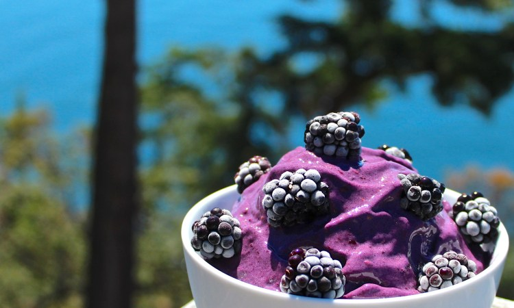 Blackberry Banana Nice Cream Vegan